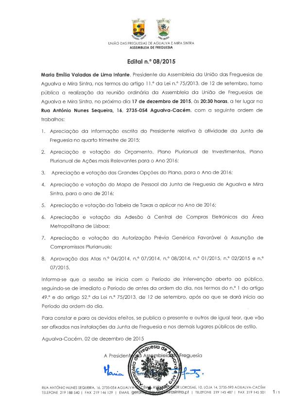 Edital Nº. 08/2015