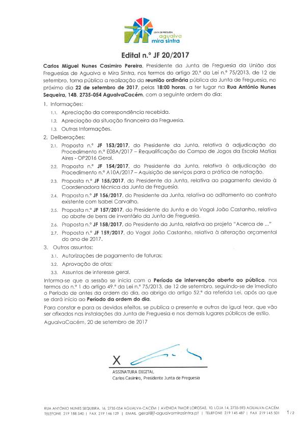 Edital n.º JF 20/2017