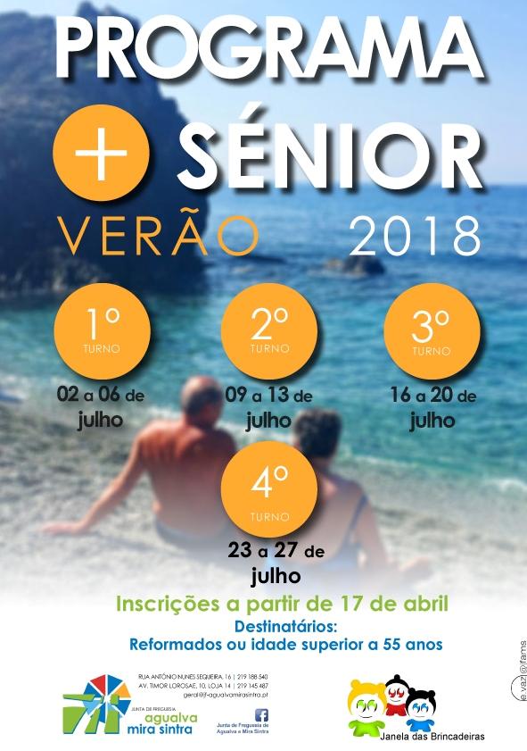 Colónias de Verão Sénior+ 2018   Abertura das inscrições