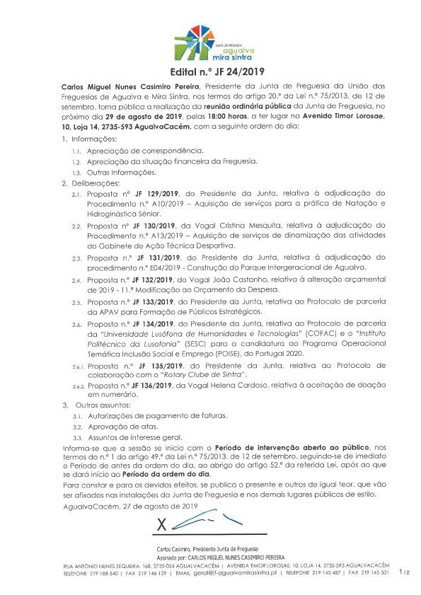 Edital n.º JF 24/2019