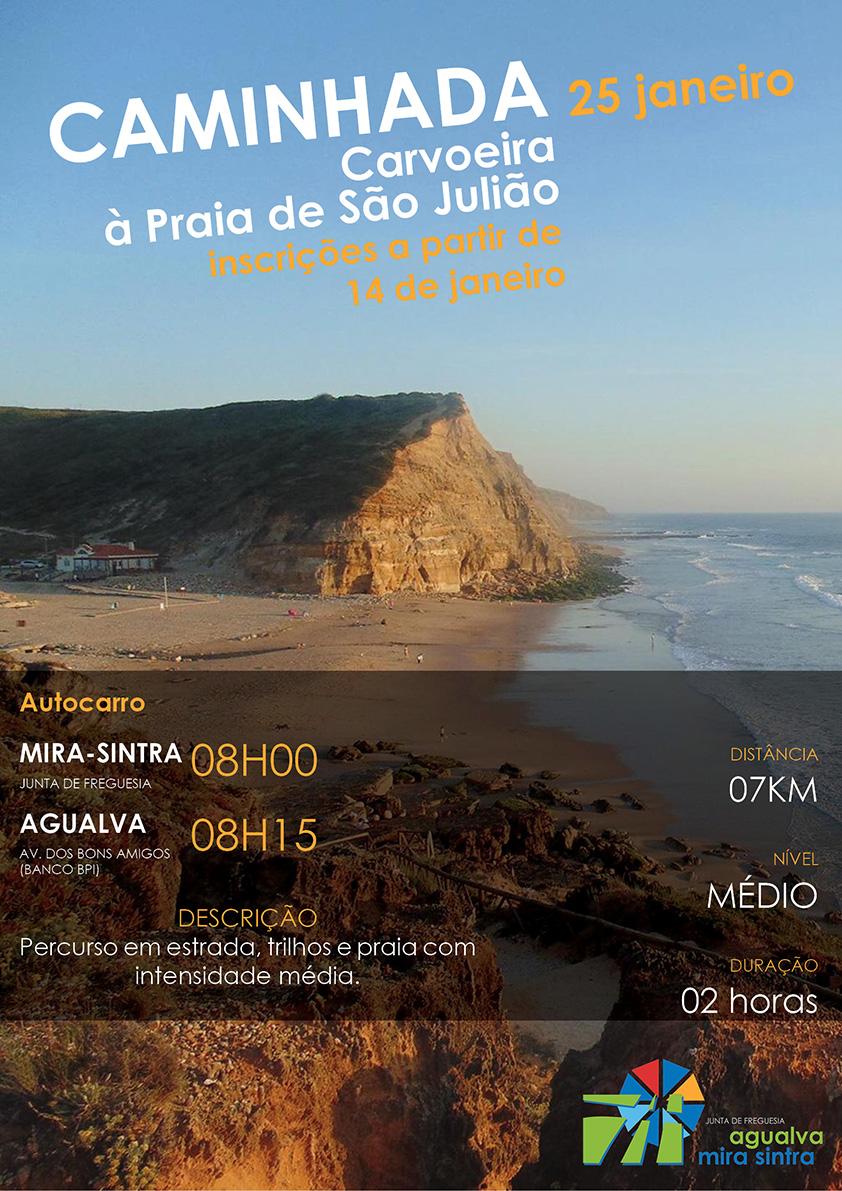 Caminhada entre a Carvoeira e a Praia de São Julião