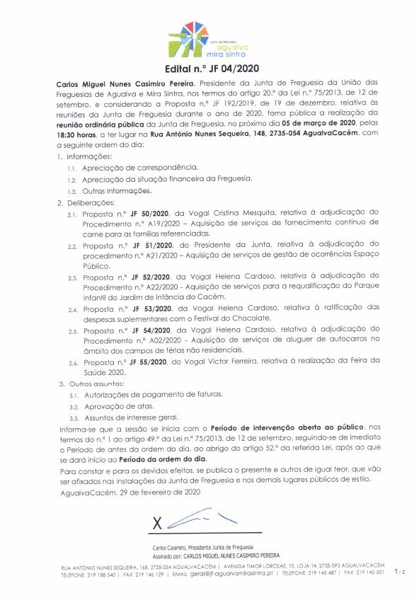 Edital n.º JF 04/2020