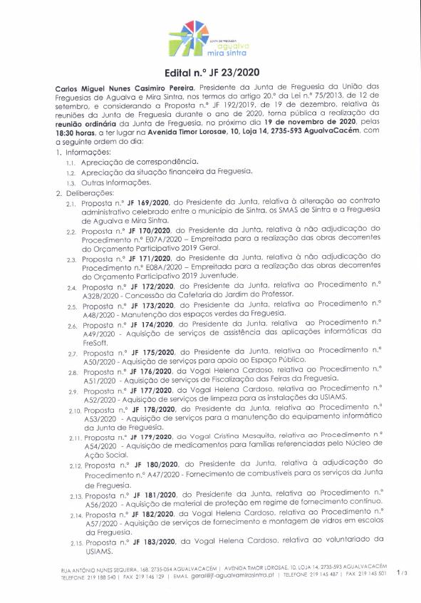 Edital n.º JF 23/2020